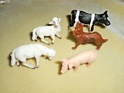 Plastic Animals 2 From Germany Schleich And 3 From Italy