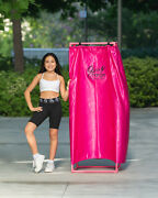 Hot Pink Portable Dressing Room Stand And Carrier Bag