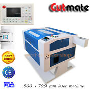 80w Co2 Laser Cutting/engraving Machine 500x700mm 20and039and03928and039and039 With Motorized Table