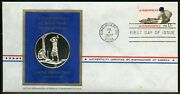United States 1977 Combination Skilled Hands And Sterling Medal First Day Cover