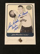 John Wooden 2001 Fleer Greats Of Game Signed Autographed Card 42 Purdue And Ucla