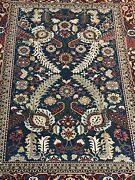 Vintage Large 142x204 Inch Gorgeous Hand Made Rug Hand Knotted 100 Wool Carpet