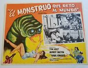 Monster That Challenged World 1957 Mexican Original Movie Lobby Card Sci-fi Rare