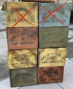 Vintage 7-up Crates Of Los Angeles In Various Colors Seven Available Soda Pop