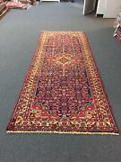 On Sale S.antique Hand Knotted Vintage Hamedan Geometric Area Rug 3and0398x9and039426453