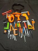 Lot Of Black And Decker Pretend Play Tools Drill Screw Driver Hammer Saw Toys