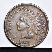 1874 Indian Cent - Xf 30305