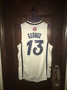 Mens Adidas Sz Small Paul George Pacers Christmas Day Nba Basketball Jersey