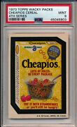 1973 Topps Wacky Packs Packages Cheapios Cereal 4th Series Psa 9 Gorgeous Wow