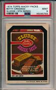 1974 Topps Wacky Packs Packages Betty Crooked Sludge 5th Series Psa 9 Gorgeous
