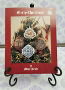 Needlework And Finishing Cross Stitch Merry Christmas No. 3 Designed By Mary Beale