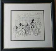 Al Hirschfeld And039opening Nightand039 Edition Art Signed Looney Tunes Bugs Wile Taz