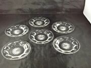 6 Heisey Coaster Under Plate Small Bread Or Butter Dish Approx 5