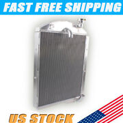 For 1941 1942 1943 1944 1945 1946 Chevy Truck 3 Rows All Aluminum Radiator