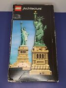 Lego Architecture 21042 Iconic Statue Of Lady Liberty Open Box Sealed Bags