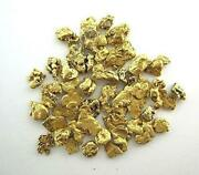 Alaskan Yukon Gold Rush Nuggets 8 Mesh 1/4 Troy Oz 7.75 Grams Or 5 Dwt