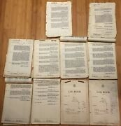 Authentic Navy Deck Log Of The Uss Bell Dd587 Feb 1944-december 1944 11 Months