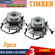 2 Timken Front Wheel Hub And Bearing Assembly Fits Chevy Gmc Trucks 4x4 Sp580310