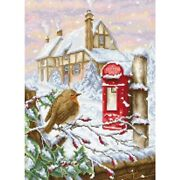 Counted Cross Stitch Kit Red Mail Box Diy Luca-s Unprinted Canvas