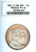 German States Prussia 1861 Taler Coin Thaler Ngc Pf 64 Pp Proof Coronation Unc