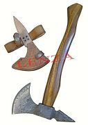 New Damascus Axe Handmade Steel Hunting Camping Crafts Perfect Gift