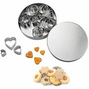 Mini Cookie Cutter Shapes Set - 24 Pieces Stainless Steel Metal Small Molds Cake