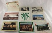 Lot 9 Vtg Christmas Greeting Cards From/to Panama 1960s + Canal Zone .11 Stamp