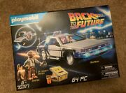 Playmobil 70317 Delorean Back To The Future Doc Brown Marty Mcfly New