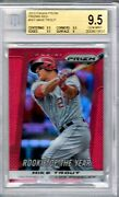 Mike Trout 2013 Panini Prizm 301 Rookie Of The Year Ssp Red Ref Bgs 9.5 Scarce