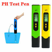 Digital Electric Ph Meter Tester Hydroponics Water Test Pen 3point Correction