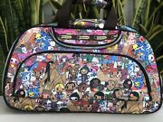 Lesportsac Rolling Duffel Bag Satchel Luggage Carry On Kawaii Travel Suitcase