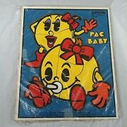 Rare Vhtf Vtg 1982 Bally Midway Baby Pac-man Puzzle Playskool Wooden Frame Tray