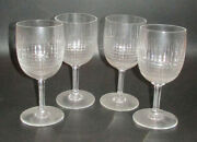 Vintage French Baccarat Glassware - Set Of Four Nancy Tall Water Goblets