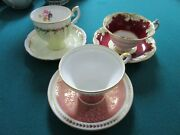 Floral England Cup Saucer Aynsley- Crown Staffordshire- Paragon- Tea Time Pick 1
