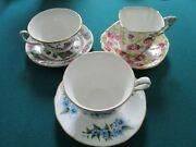 Floral Tea Time Cups Saucer Royal Stafford - Royal Grafton - Queen Anne Pick 1
