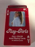 Play Girls - Adult Playing Giant Cards - Carte Da Gioco Vintage - Rare B2