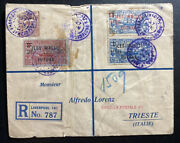 1927 Port Francais Wallis And Futuna Islands Cover To Triest Italy Sc39