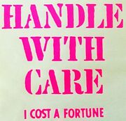 Original Vintage Handle With Care I Cost A Fortune Mini Iron On Transfer