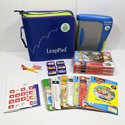 Leap Frog Leappad Learning System Plus Writing Lot, Books Games Pencils Case
