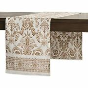 Maison Dand039 Hermine Allure 100 Cotton Table Runner 14.5 Inch By 108 Inch. Home