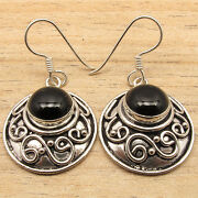 Hot Selling Silver Plated Black Onyx Lovely Earrings Art Antique Jewellery