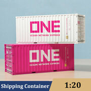 120 Diecast Pink One Container Model Ocean Network Express Gift Kids Toys