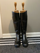 Vintage Vogel Tall Black Custom Womenandrsquos Riding Hunting Boots With Wooden Trees