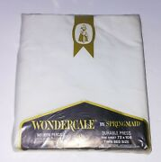 Nos Lot Vintage Wondercale By Springmaid Twin Bed Twin Fitted And 2 Pillowcases