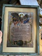 Oh Say Can You See Eagle Framed Print J.r. Rosen And A E Hilton Brown Bigelow 1948