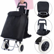 Costway Large Capacity Light Weight Wheeled Shopping Trolley Push Cart Bag New