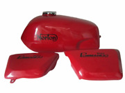 Gas Petrol Fuel Tank For Norton Commando Fastback Red Paint With Side Panels