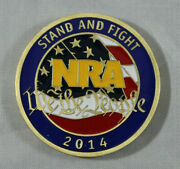Nra National Rifle Associaton Stand And Fight Challenge Coin 2014. New In Pouch