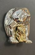 And Co Mother Baby Polar Bear Sapphire Silver And 18k Gold Brooch