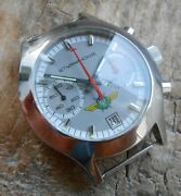 Extremely Rare Vintage Russian S. Steel Chronograph Watch Sturmanskie Cal. 3133